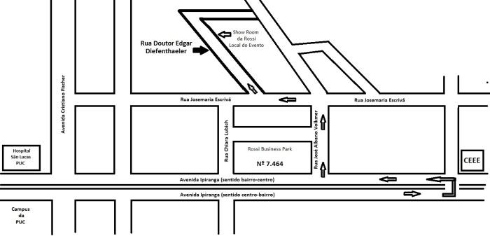 Mapa de localização da Rua Edgar Diefenthaeler